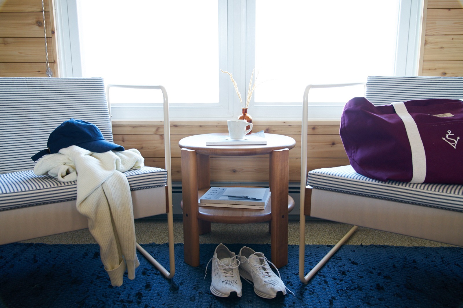 Chairs in guest room