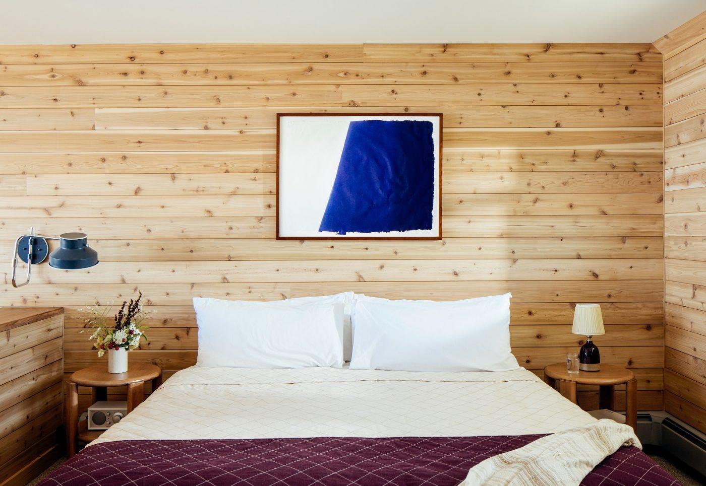 Bed in guest room
