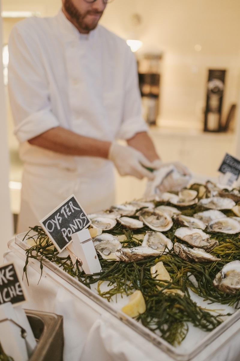 Wedding event oyster bar