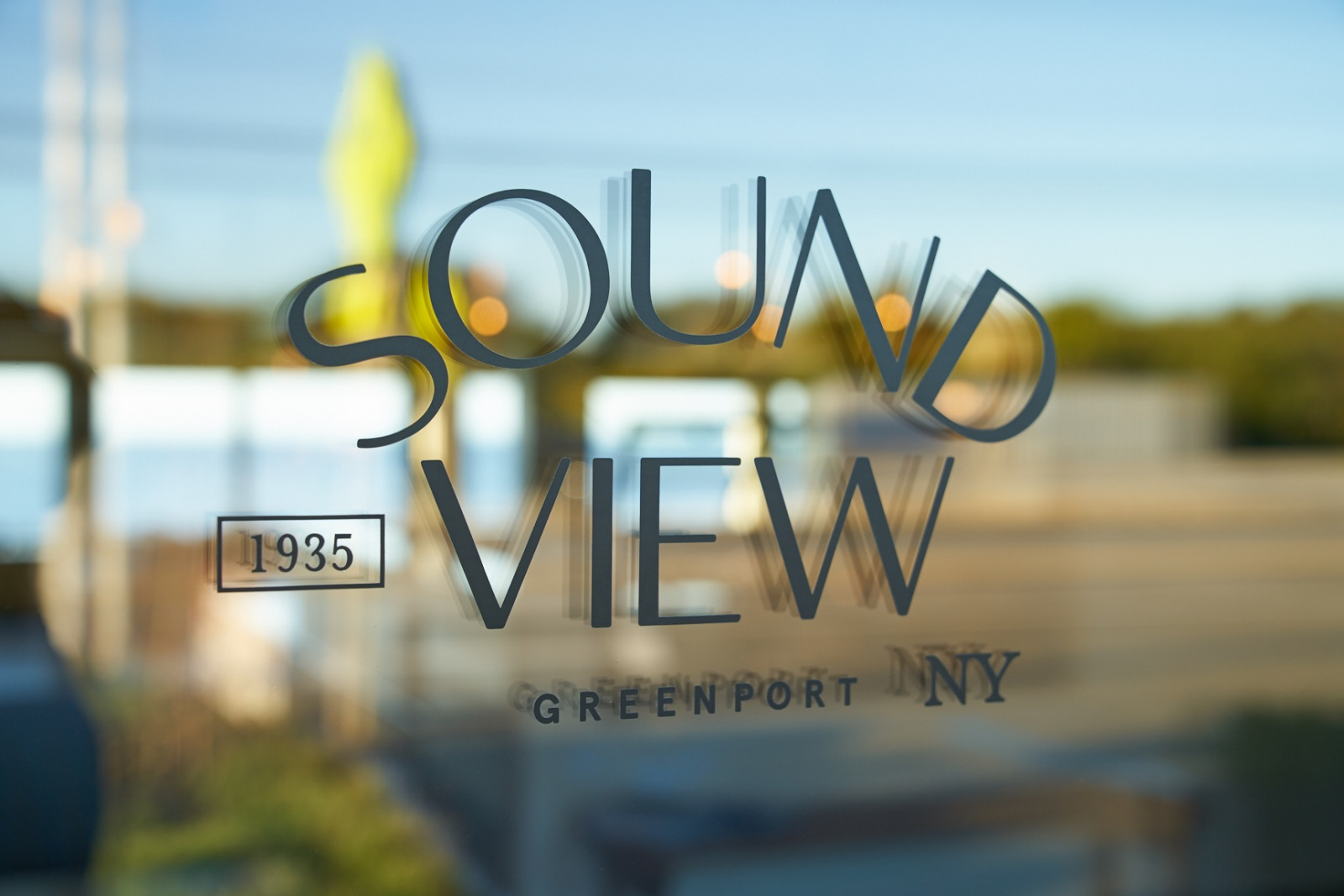Sound View logo on front doors