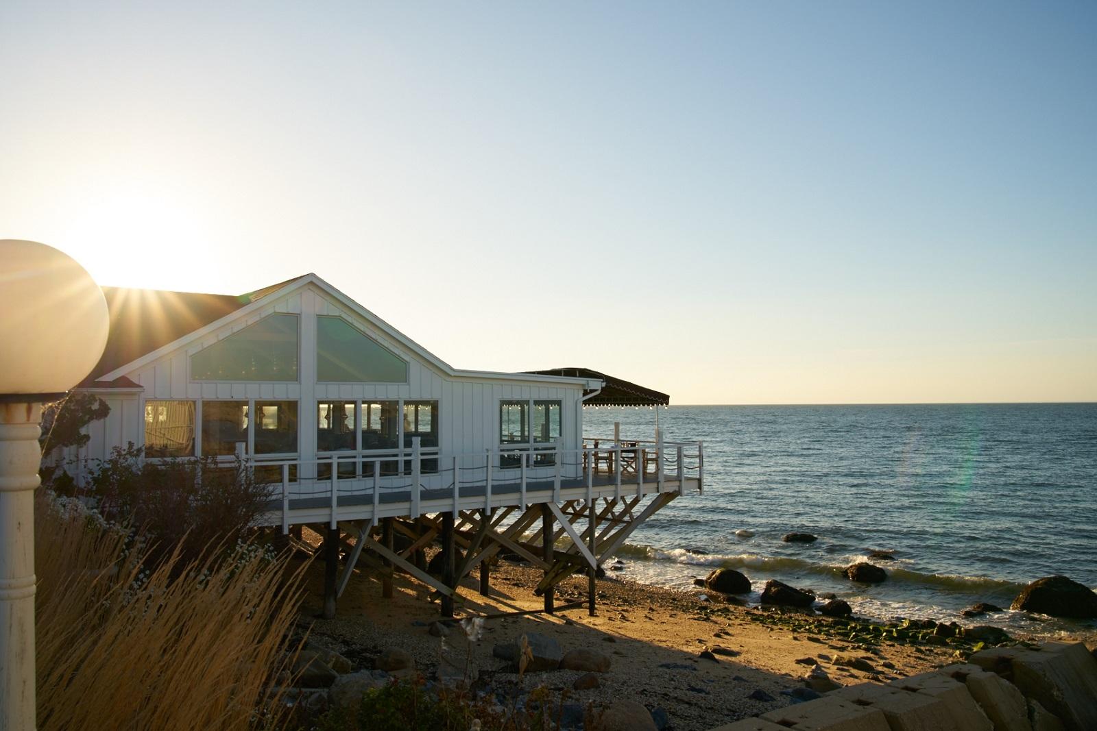 Exterior waterfront Halyard Restaurant