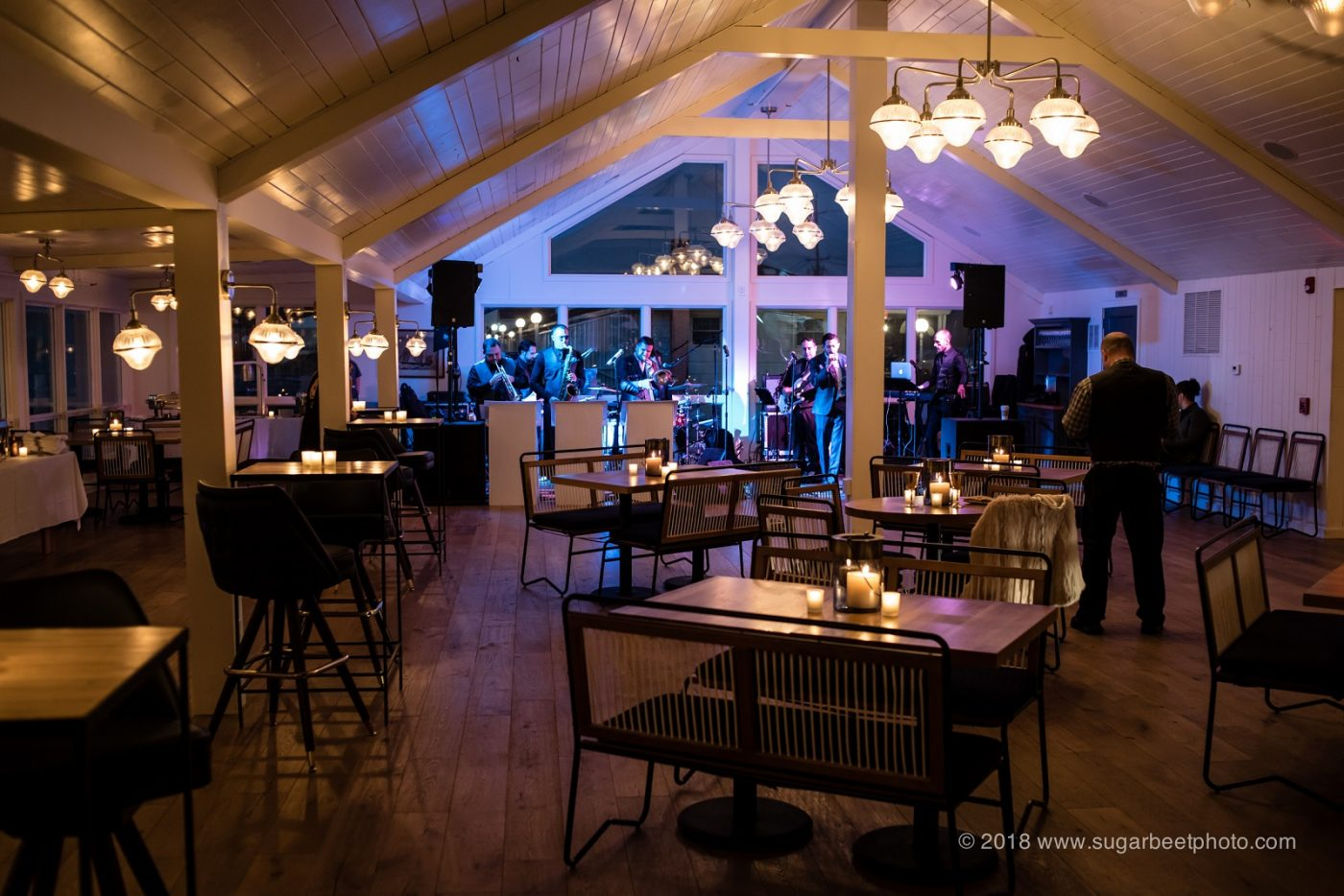 Evening wedding in the Halyard Dining Room