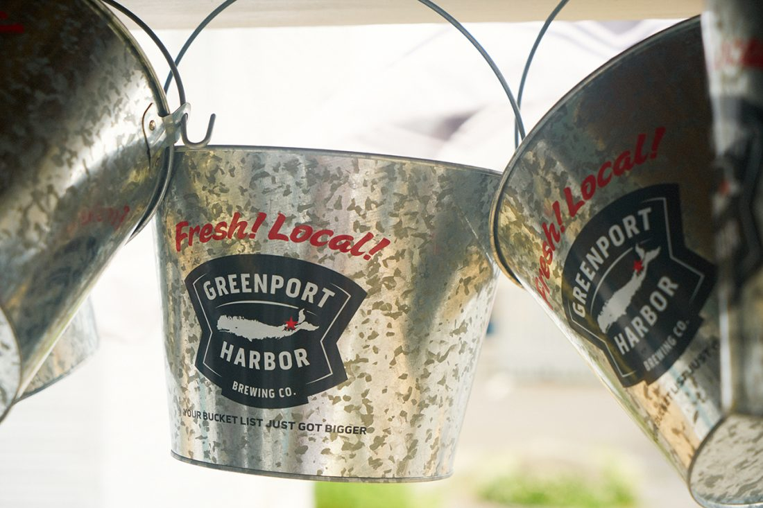 Greenport Brewery beer buckets