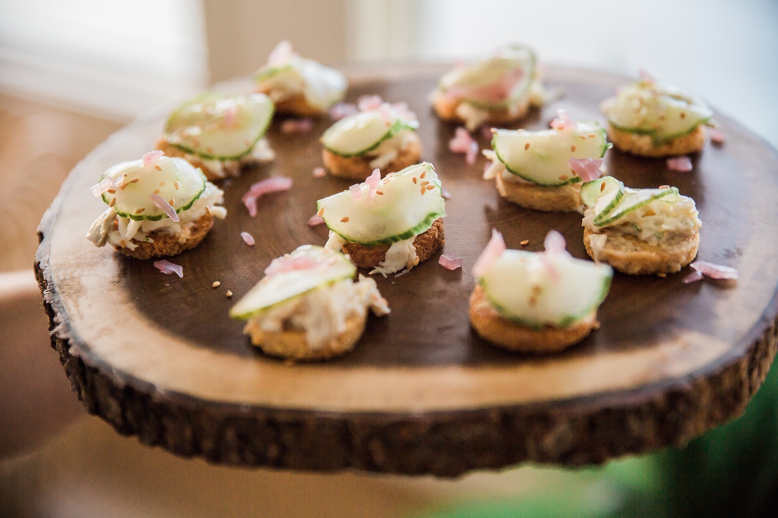 Wedding event hors doeuvres appetizers