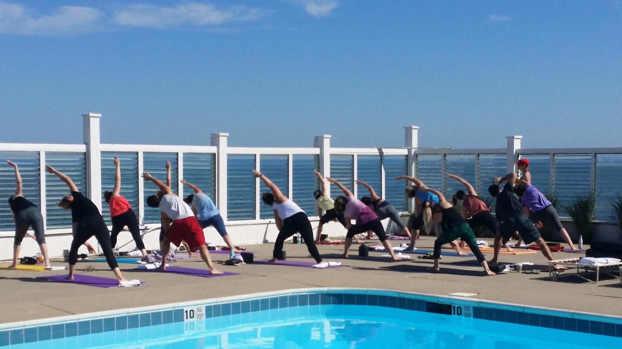 Yoga on the Pool Deck Salutations on the Sound