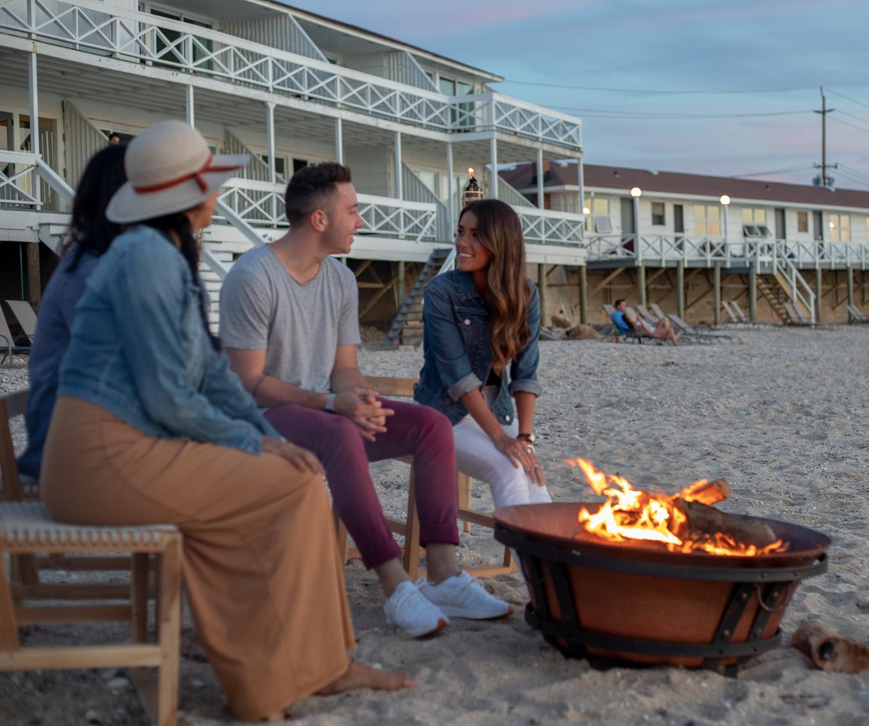 Bonfire at North Fork Long Island Hotels