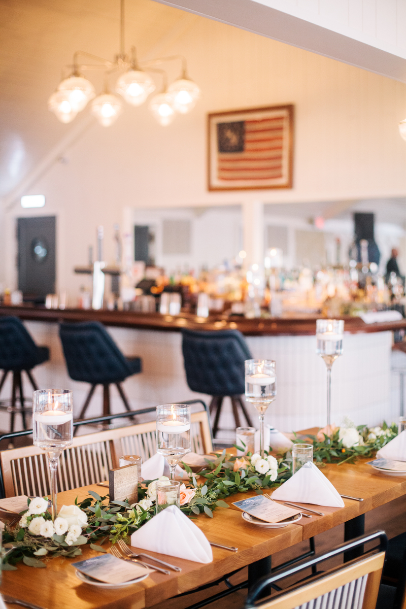 Tablescape by bar