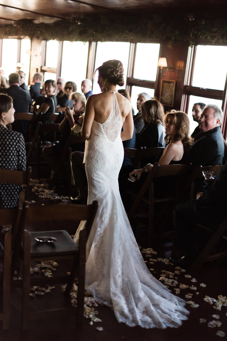 Bride in Library