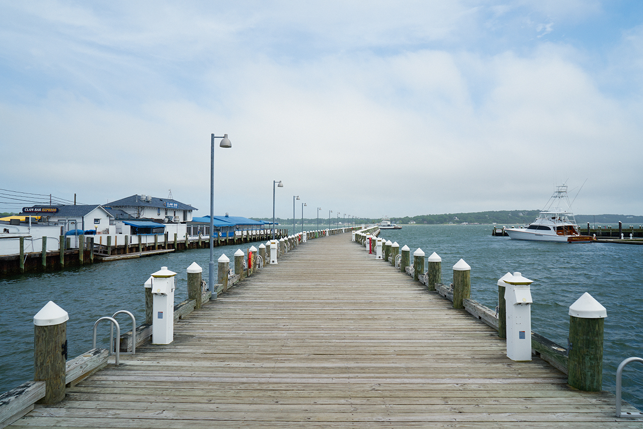 View from the pier of Soundview Greenport