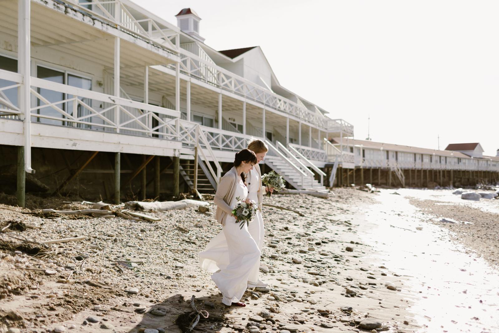 Bridesmaids at Long Island Beach Wedding Venues