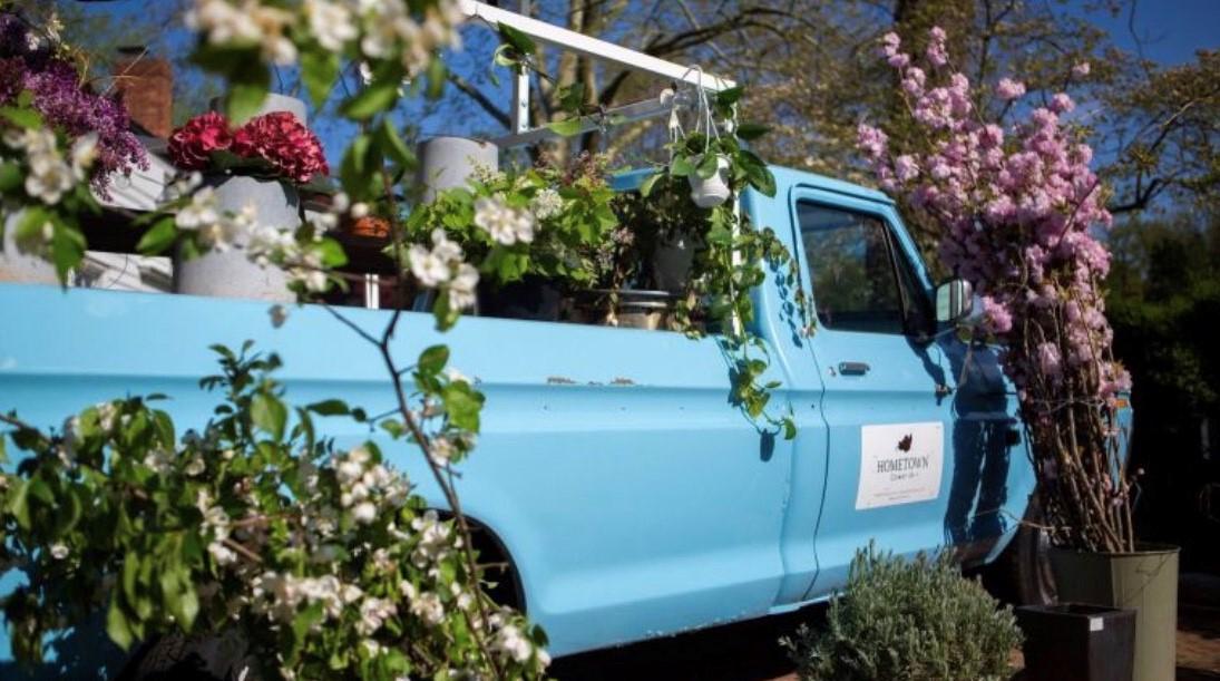 Hometown Flower truck pop up