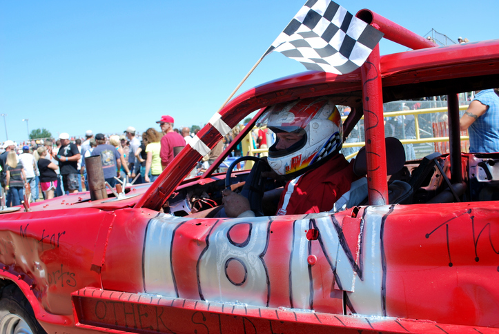 Demolition derby race car