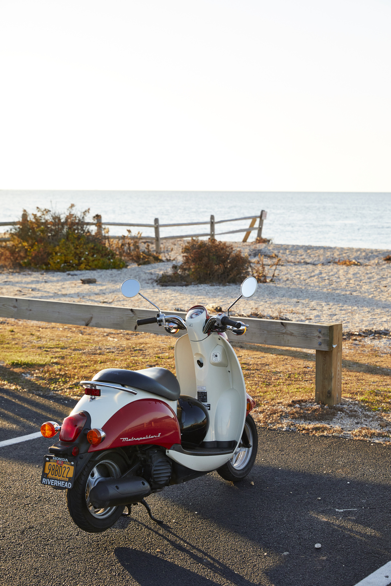 Vespa at Beach
